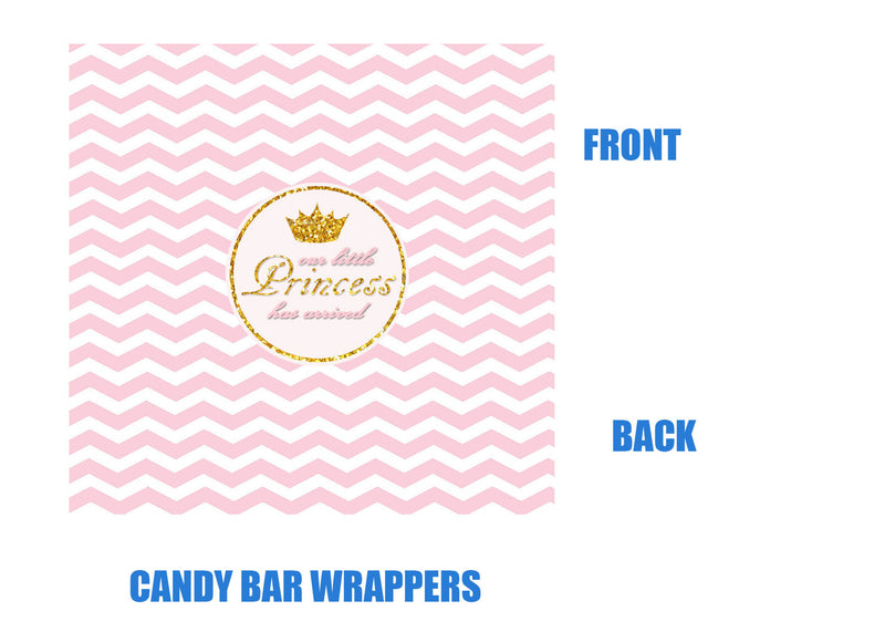Princess Baby Shower Candy Bar Wrappers