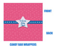 Supergirl Baby Shower Candy Bar Wrappers
