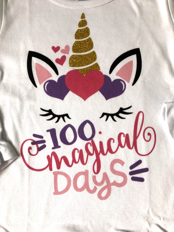 100 Days of School T-shirt, Unicorn
