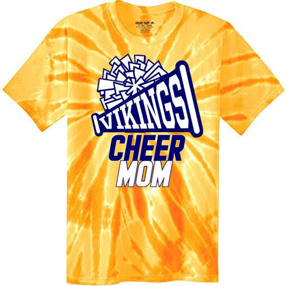 Tie Dye Viking Cheer Shirt, DESIGN 2