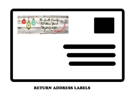 Holiday Return Mailing Address Labels, ornaments