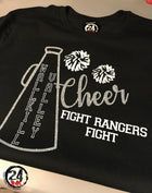 Cheer  T-Shirt (your team colors can be designed)