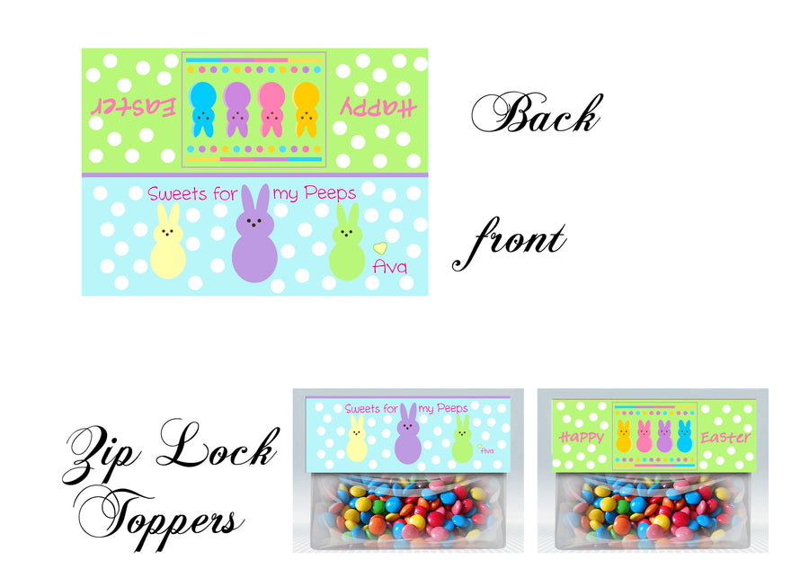 Easter Bag toppers, Gift tags