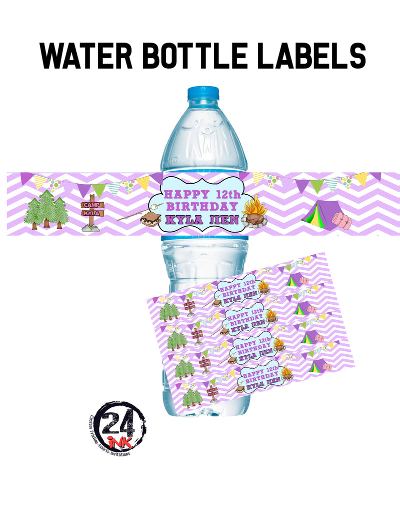 Candy Water Bottle Labels, candyland