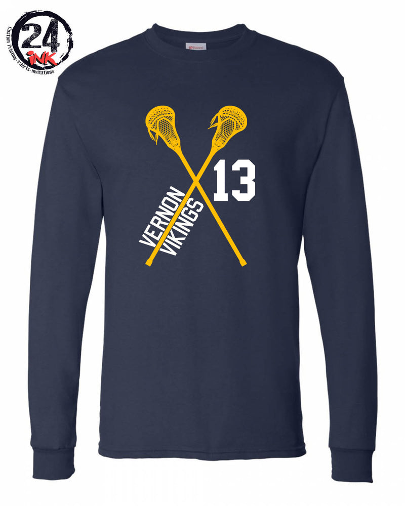 Lacrosse With Number Shirt