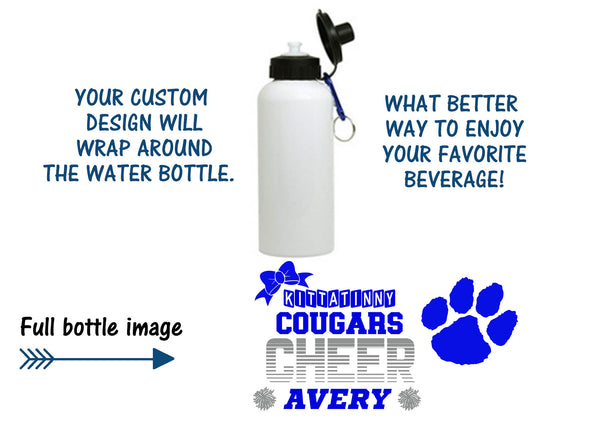 Cougars Cheer Personalized Water Bottle