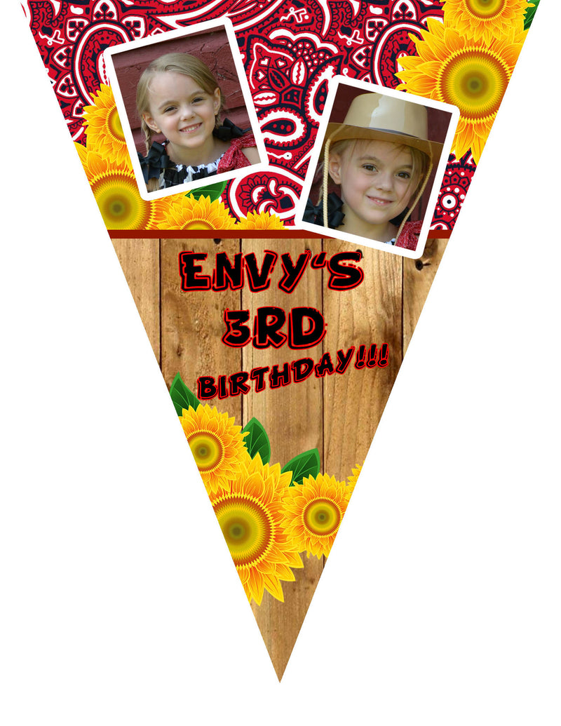 Cowgirl Sunflower Birthday Invitation