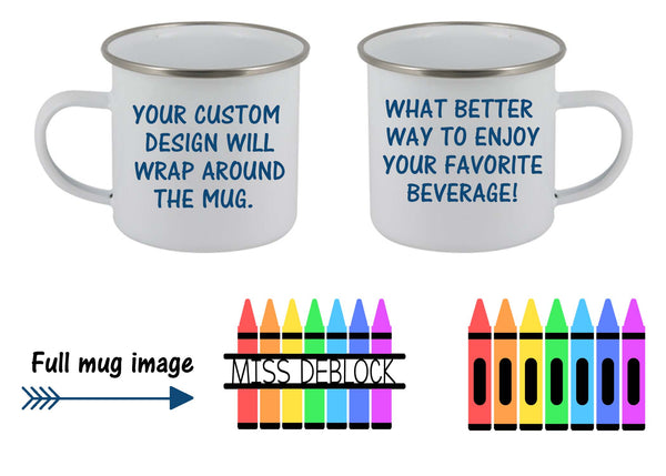 Crayon personalized mug