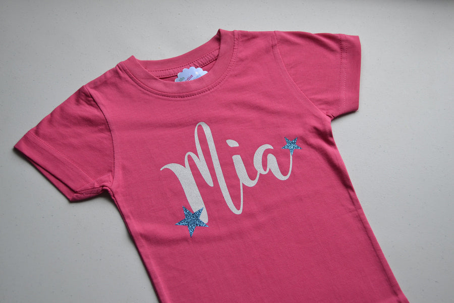 Personalized Glitter Name T-Shirt