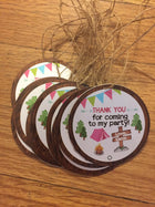 Camping gift tags, Girl scouts