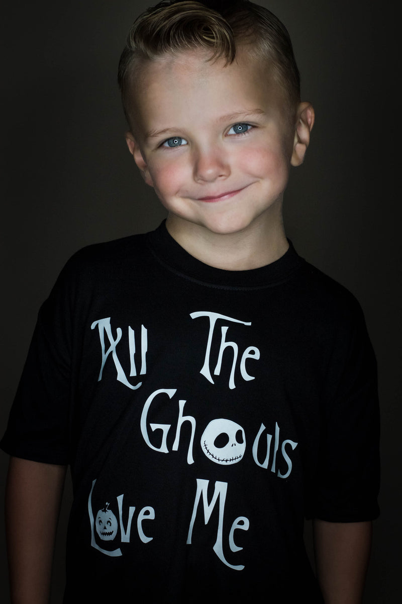 Halloween T-Shirt, All the Ghouls Love Me, GLOW IN THE DARK