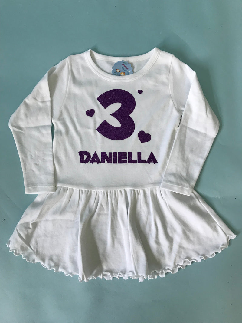 Birthday age and name dress