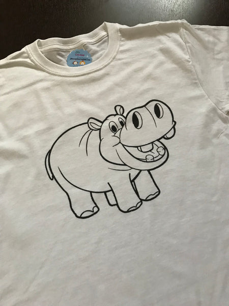 Hippo Coloring T-shirt, Party Favor
