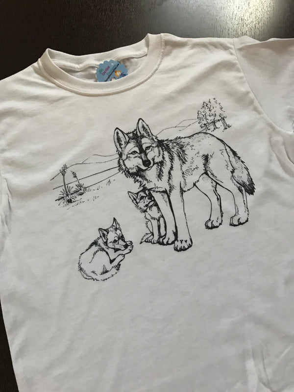 Wolf Coloring T-shirt, Party Favor