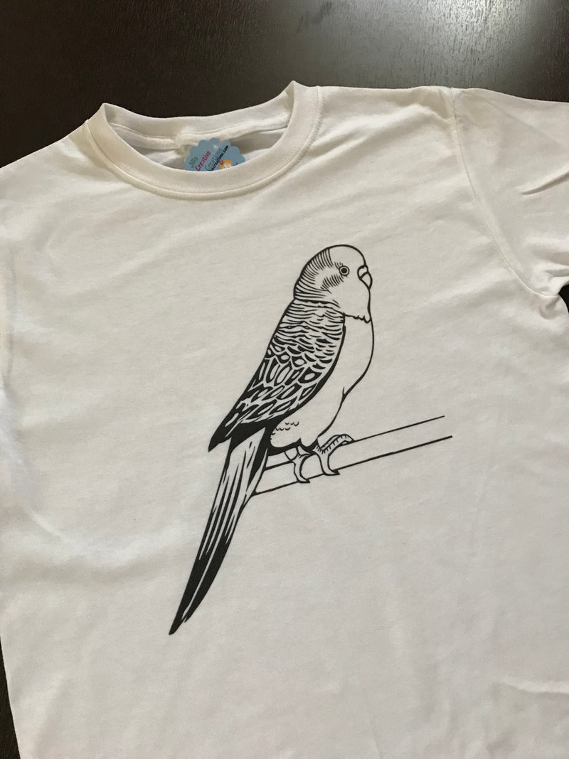 Bird Coloring T-shirt, Party Favor
