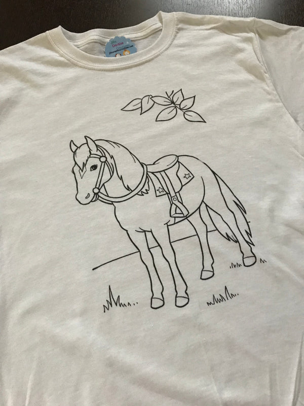 Horse Coloring T-shirt, Party Favor