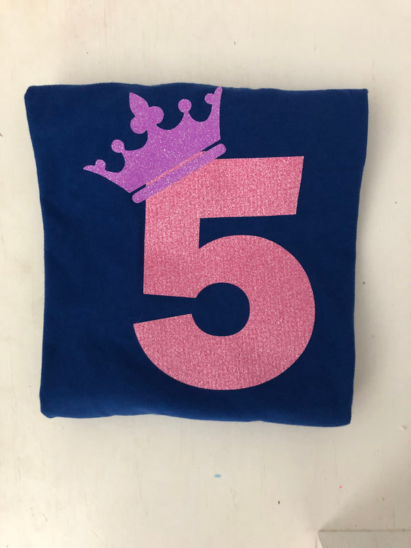 Princess Crown Number Tee