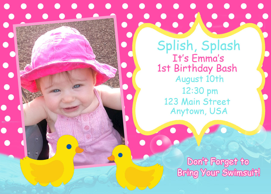 Ducks Birthday Invitation
