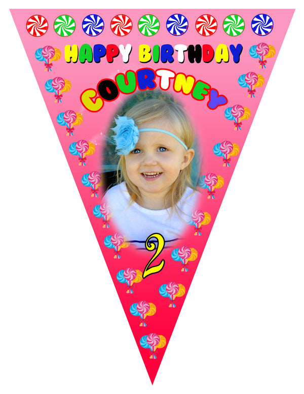 Candy Birthday Banner