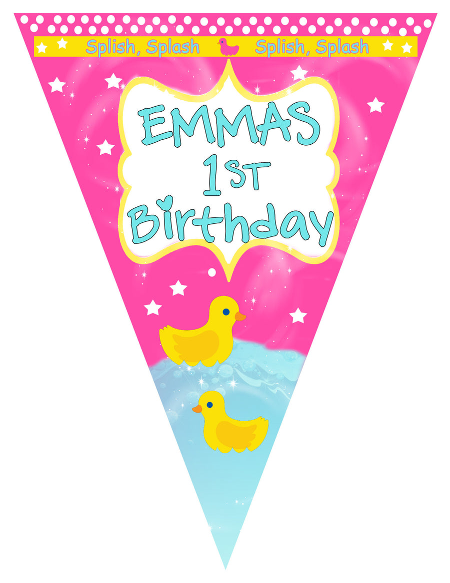 Ducks Birthday Banner