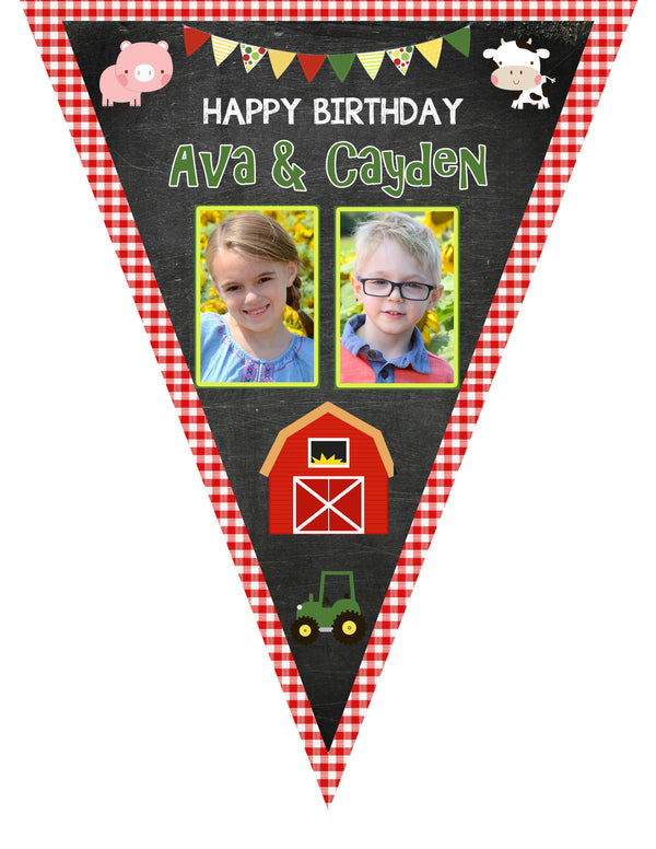 Farm Friends Birthday Banner