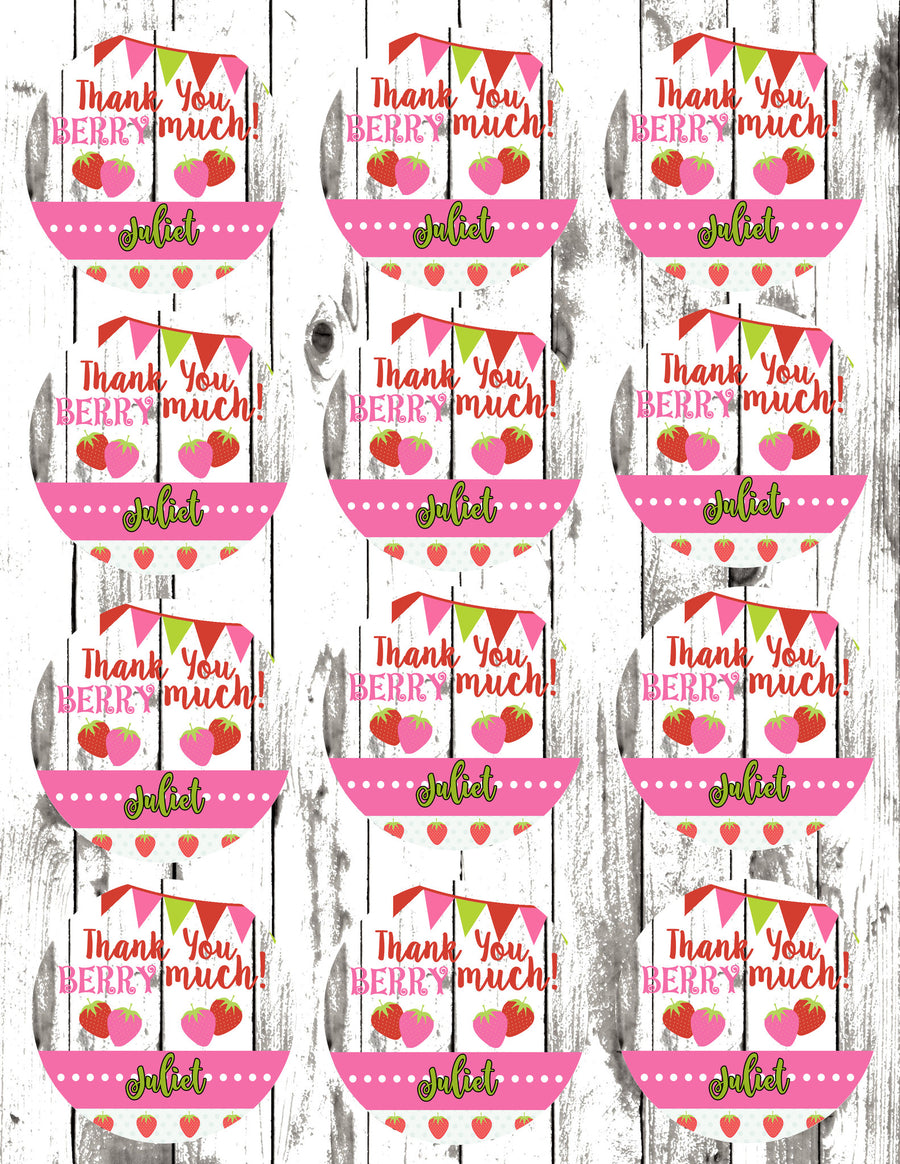 Strawberry Party Gift Tags