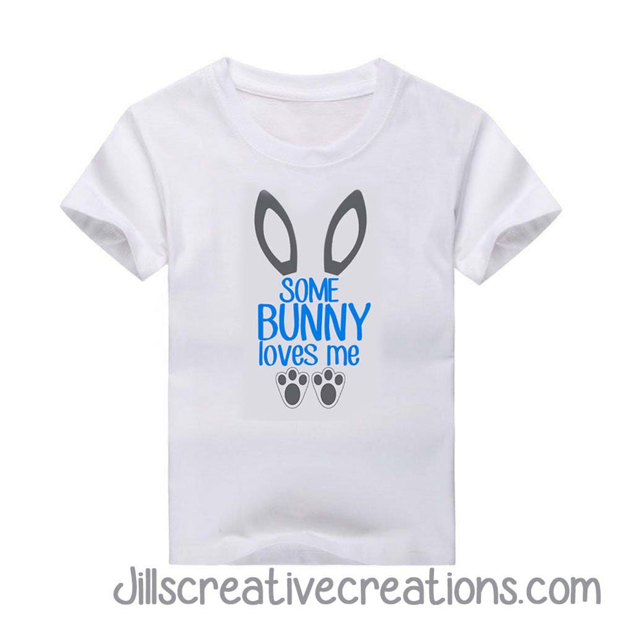 Easter T Shirt Some Bunny Loves Me 24 Ink