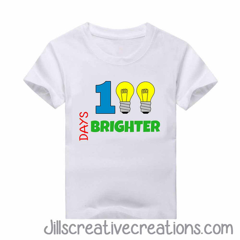 100 Days Brighter T-shirt, 100 days of school