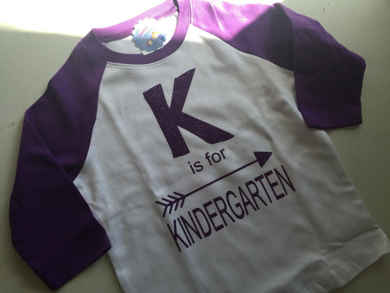 K is for Kindergarten T-Shirt  (any grade can be designed)