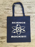 Science Rocks Tote Bag, Atom