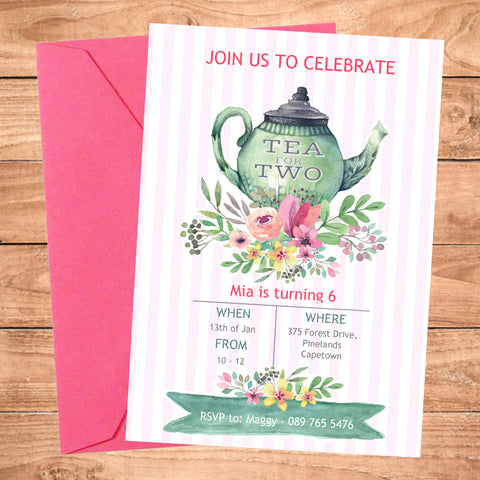 Tea Party Digital Invite