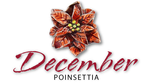 poinsettia birth flower december jewelry