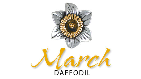 daffodil march birth flower jewelry