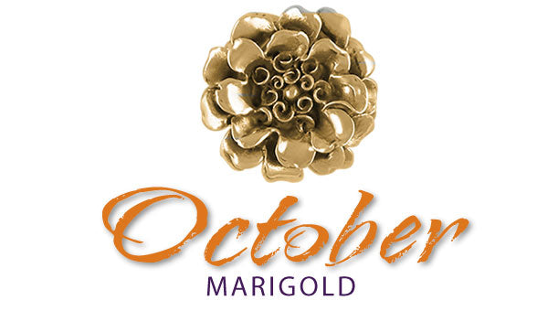 marigold birth flower October jewelry