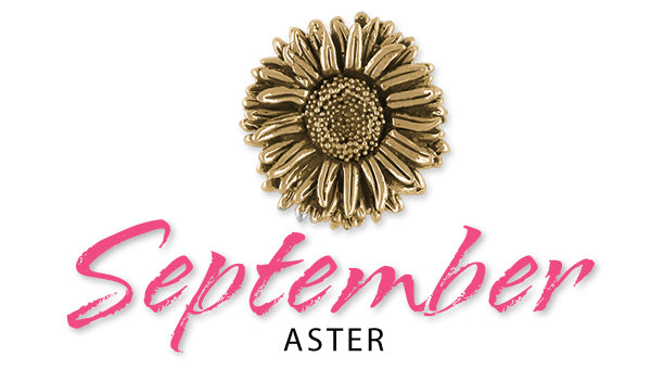aster birth month flower for September jewelry
