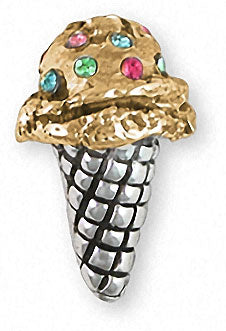 ice cream cone charms and ice cream cone jewelry