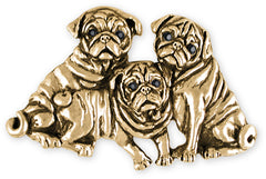 Pug Charm Jewelry Sterling Silver Handmade Dog Charm PG43-C