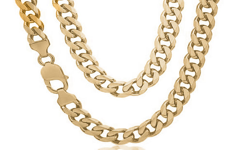 chain women from classic never men goin filled weeding curb gold chains product design link gp new fading necklace color
