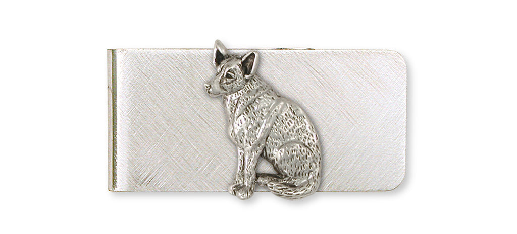 Australian Cattle Dog Charms Australian Cattle Dog Money Clip Sterling Silver Dog Jewelry Australian Cattle Dog jewelry
