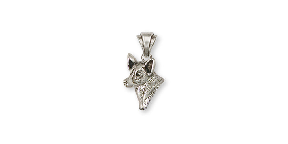 Australian Cattle Dog Charms Australian Cattle Dog Pendant Sterling Silver Dog Jewelry Australian Cattle Dog jewelry