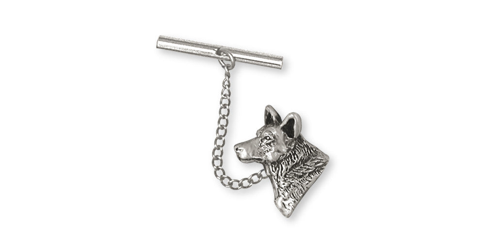 Australian Cattle Dog Charms Australian Cattle Dog Tie Tack Sterling Silver Dog Jewelry Australian Cattle Dog jewelry