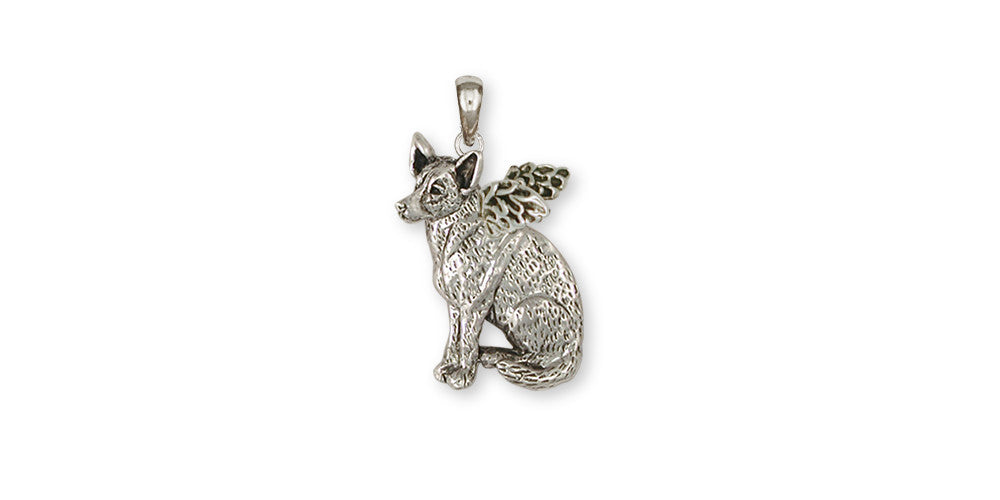 Australian Cattle Dog Angel Charms Australian Cattle Dog Angel Pendant Sterling Silver Dog Jewelry Australian Cattle Dog Angel jewelry