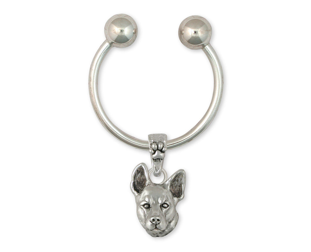 Australian Cattle Dog Charms Australian Cattle Dog Key Ring Sterling Silver Dog Jewelry Australian Cattle Dog jewelry