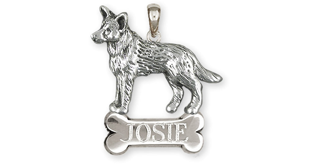 Australian Cattle Dog Charms Australian Cattle Dog Pendant Sterling Silver Cattle Dog Jewelry Australian Cattle Dog jewelry