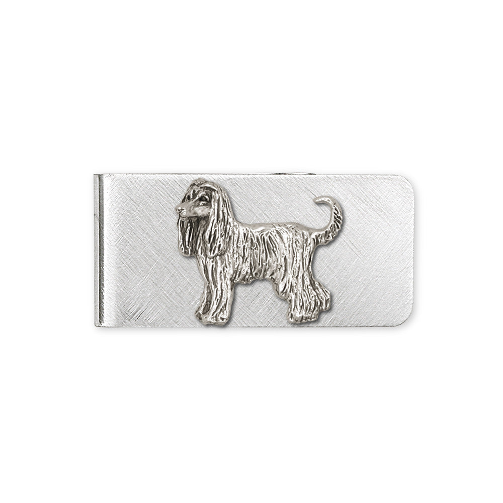 Afghan Hound Charms Afghan Hound Money Clip Sterling Silver Dog Jewelry Afghan Hound jewelry