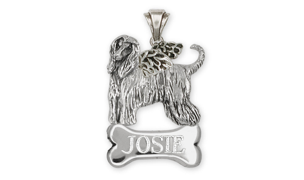 Afghan Hound Angel Charms Afghan Hound Angel Pendant Sterling Silver Dog Jewelry Afghan Hound Angel jewelry