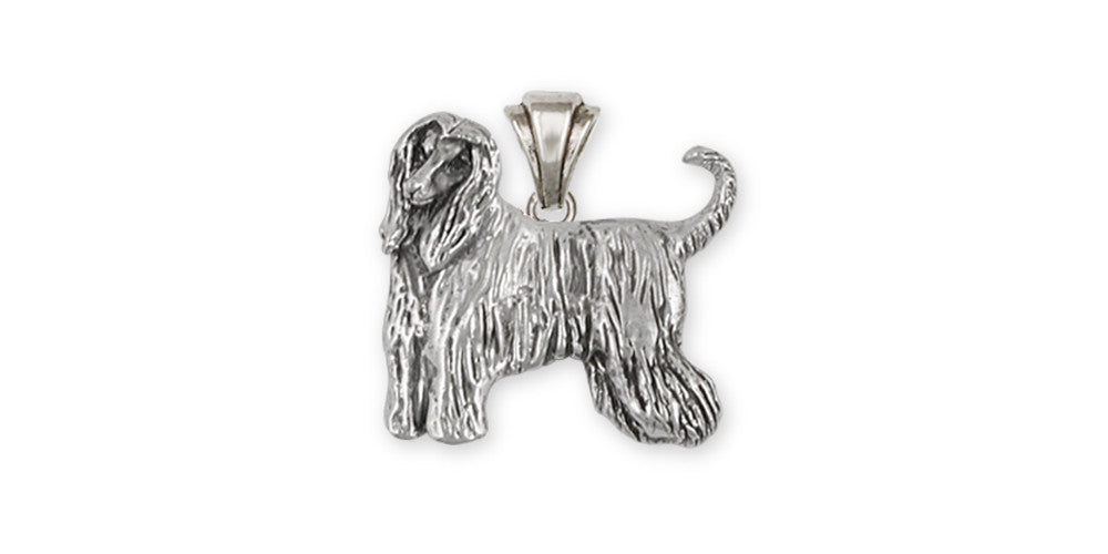 Afghan Hound Charms Afghan Hound Pendant Sterling Silver Dog Jewelry Afghan Hound jewelry