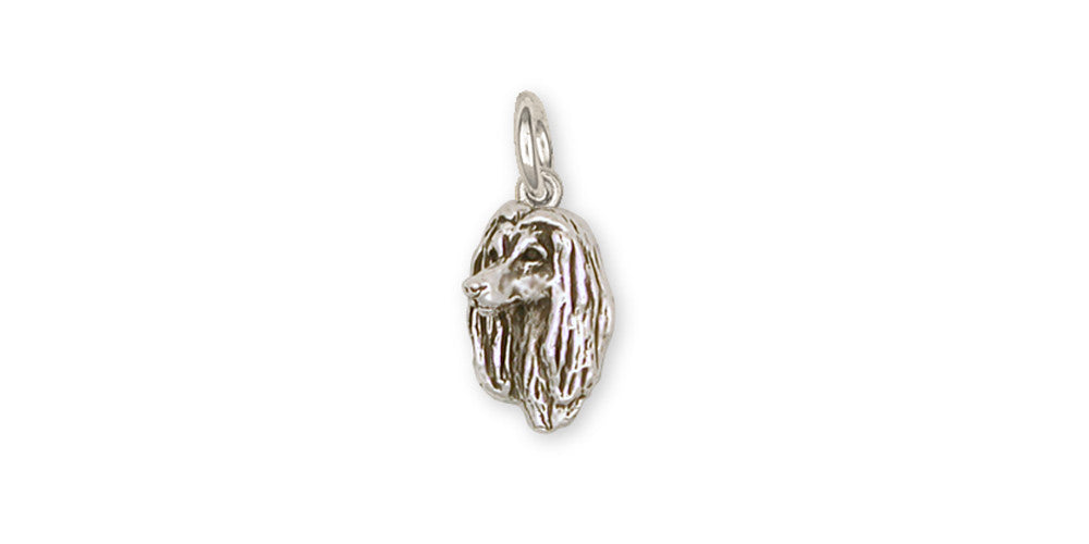 Afghan Hound Charms Afghan Hound Charm Sterling Silver Dog Jewelry Afghan Hound jewelry