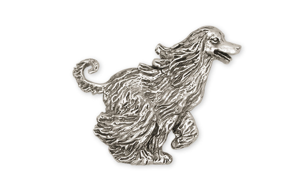 Afghan Hound Charms Afghan Hound Brooch Pin Sterling Silver Dog Jewelry Afghan Hound jewelry
