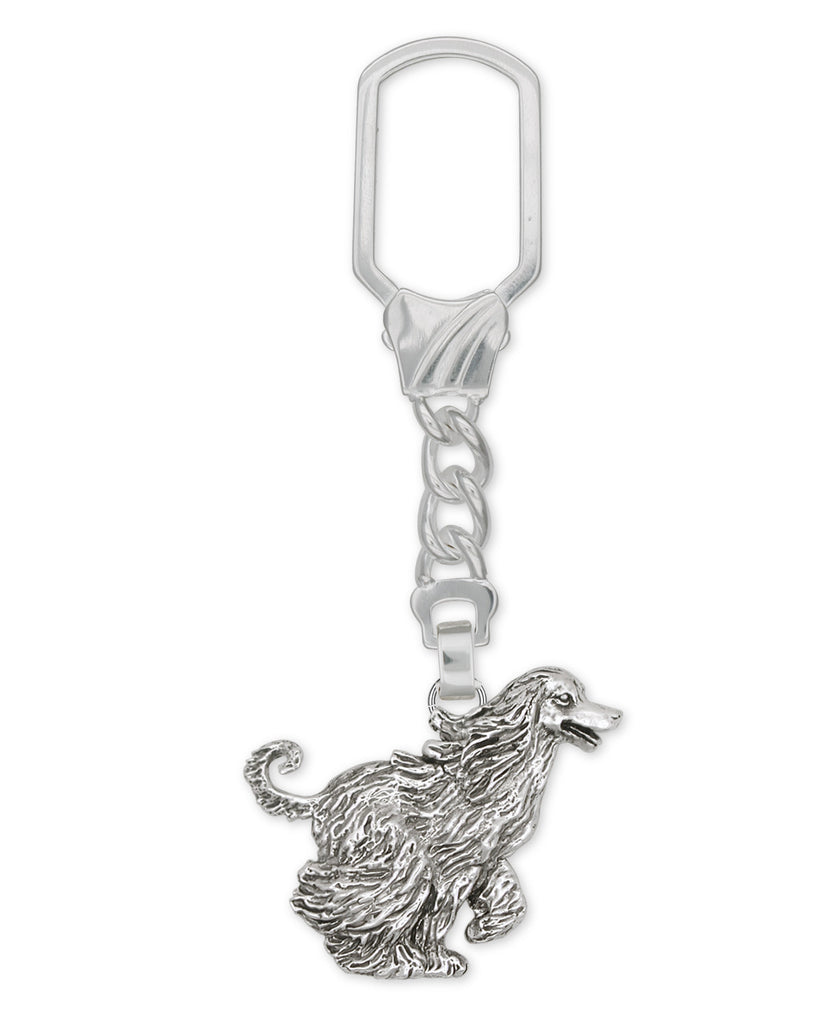 Afghan Hound Charms Afghan Hound Key Ring Sterling Silver Dog Jewelry Afghan Hound jewelry